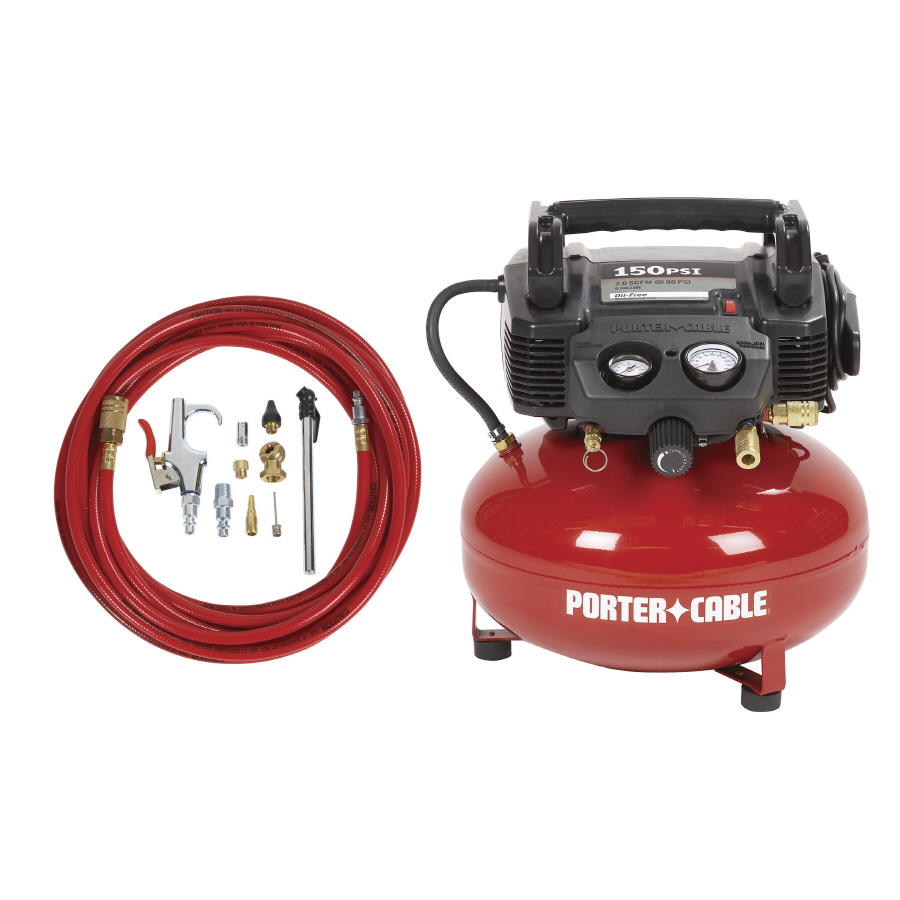 Porter Cable 0 8 Hp 6 Gallon 150 Psi Electric Air