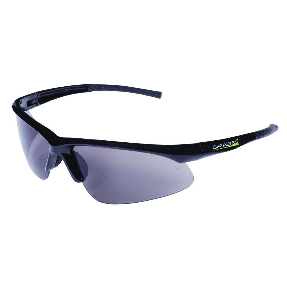 cordova catalyst safety glasses dual wrap around gray anti