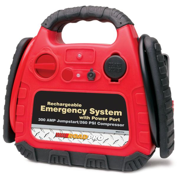 RoadPro RPAT-774 Emergency Jump Starter With Inflator