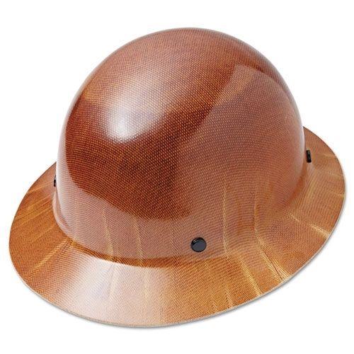 msa 475407 natural tan skullgard hard hat with 4 point ratchet asd