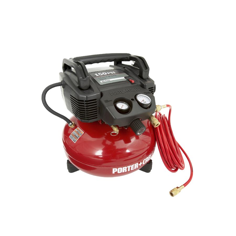 Porter Cable 0 8 Hp 6 Gallon 150 Psi Electric Air Compressor Asd