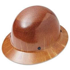 MSA 475407 Natural Tan Skullgard Hard Hat with 4 Point Ratchet