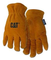 Boss / CAT Gloves - Top quality gold split leather