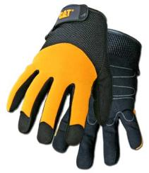 Boss/CAT Gloves - Synthetic Palm with Yellow Spandex Back
